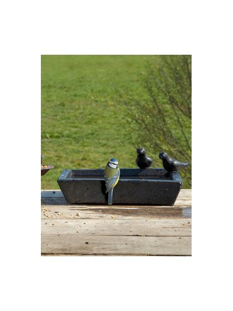 Vogeltränke Keram, Terrazzo, Schwarz, 32 x 12 cm