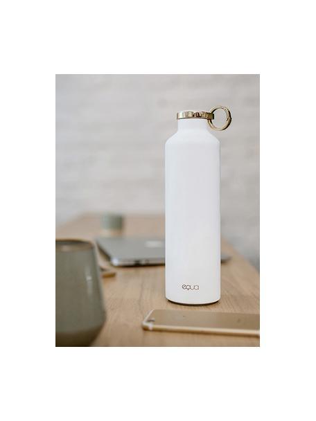Borraccia termica Classy Thermo Snow White, Acciaio inossidabile rivestito, Bianco, dorato, Ø 8 x Alt. 26 cm