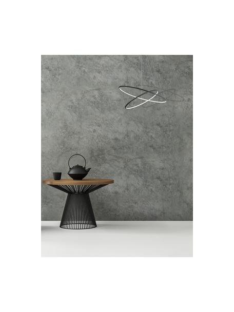 Lámpara de techo grande LED Orion, estilo moderno, Pantalla: metal recubierto, Anclaje: metal recubierto, Cable: plástico, Negro, Ø 60 x Al 50  cm