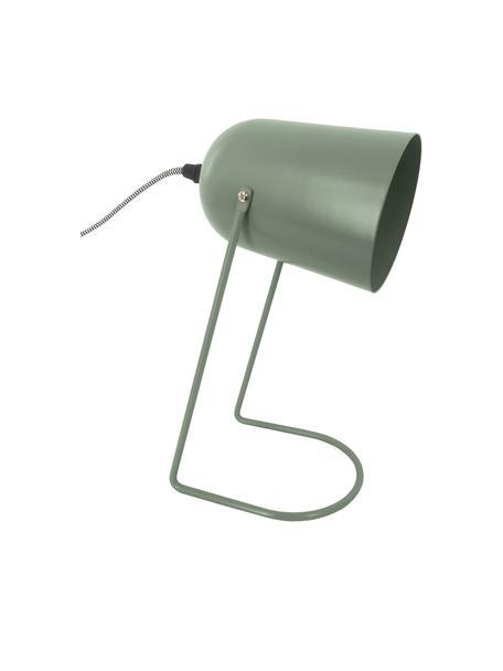 Kleine Retro-Tischlampe Enchant, Lampenschirm: Metall, beschichtet, Grün, Ø 18 x H 30 cm