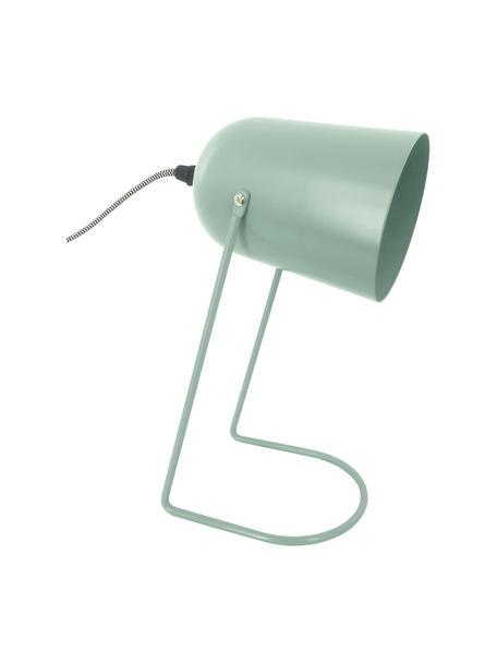 Kleine Retro-Tischlampe Enchant in Grün, Lampenschirm: Metall, beschichtet, Lampenfuß: Metall, beschichtet, Grün, Ø 18 x H 30 cm