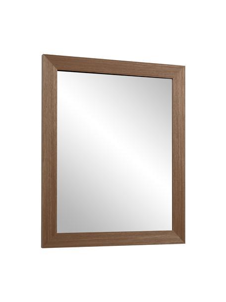 Specchio da parete con cornice in legno Wilany, Cornice: legno, Superficie dello specchio: lastra di vetro, Marrone scuro, Larg. 47 x Alt. 58 cm