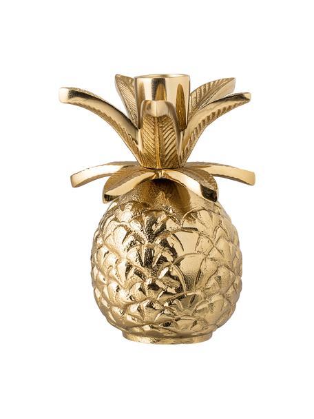 Candelabro di grandi dimensioni Pineapple, Alluminio verniciato, Dorato, Ø 10 x A 14 cm