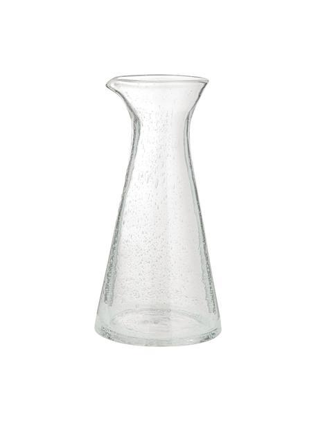 Jarra de vidrio soplado a mano Bubble, 800ml, Vidrio soplado artesanalmente, Transparente con burbujas de aire, Al 25 cm