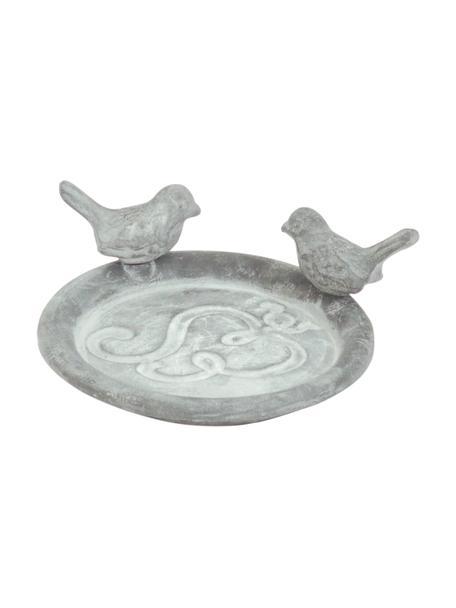 Vogeltränke Bird, Metall, beschichtet, Grau, Ø 13 x H 5 cm