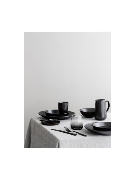 Ręcznie wykonany półmisek Esrum Night, Kamionka szkliwiona, Szarobrązowy, matowy, srebrzysty, lśniący, Ø 31 x W 7 cm