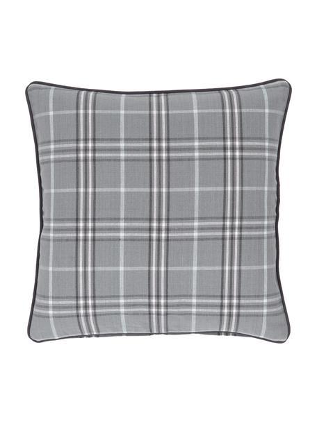 Karierte Kissenhülle Stirling mit Keder, 100% Baumwolle, Mehrfarbig, 45 x 45 cm