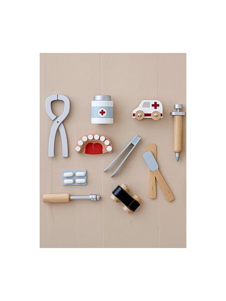 Komplet zabawek Dentist, 9 elem., Drewno naturalne, Wielobarwny, S 14 x W 10 cm