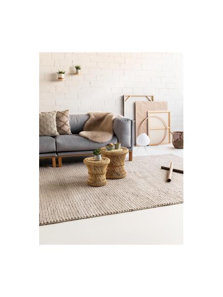 Tappeto in lana tessuto a mano con struttura intrecciata Uno, Retro: 100% cotone Nel caso dei , Taupe, Larg. 120 x Lung. 170 cm (taglia S)