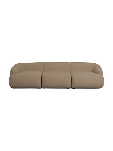 Modulares Sofa Sofia (3-Sitzer) in Braun, Bezug: 100% Polypropylen Der hoc, Gestell: Massives Kiefernholz, Spa, Füße: Kunststoff, Braun, B 278 x T 95 cm
