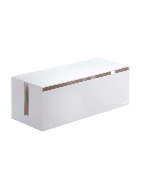 Pudełko na kable Web, Tworzywo sztuczne (poliwęglan), poliresing, Biały, S 40 x W 15 cm