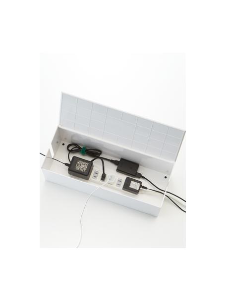 Caja para cables Web, Plástico (policarbonato), poliresina, Blanco, An 40 x Al 15 cm