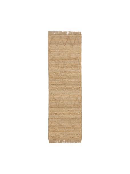Alfombra artesanal de yute Jason, 100%yute, Beige, An 80 x L 250 cm