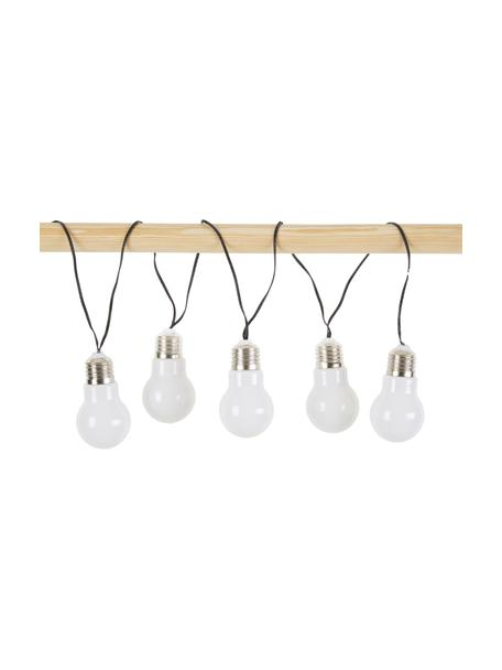LED-Lichterkette Glow, 100 cm, 5 Lampions, Weiß, L 100 cm