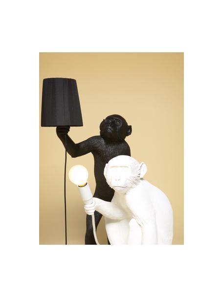 Design Aussentischlampe Monkey mit Stecker, Leuchte: Kunstharz, Schwarz, 46 x 54 cm