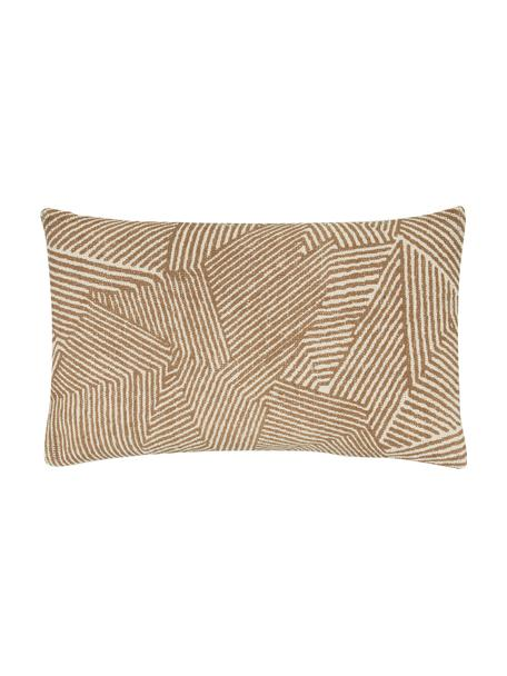 Poszewka na poduszkę Nadia, 100% bawełna, Beżowy, biały, brązowy, S 30 x D 50 cm