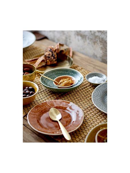 Handgemachter Frühstücksteller Rani mit Craquelé Glasur, Steingut, Braun, Ø 20 cm