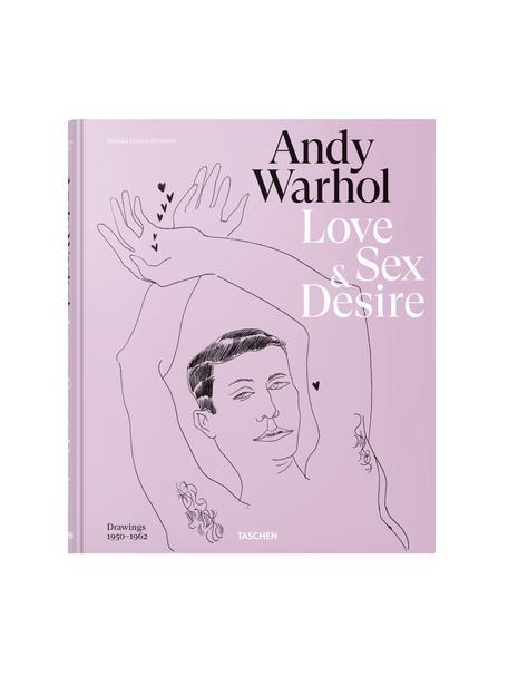 Geïllustreerd boek Andy Warhol. Love, Sex and Desire, Papier, hardcover, Lila, multicolour, 28 x 24 cm