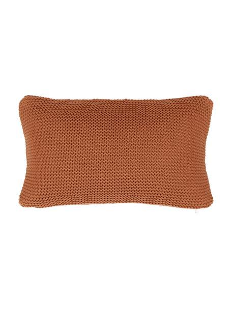 Dzianinowa poszewka na poduszkę z bawełny organicznej Adalyn, 100% bawełna organiczna, certyfikat GOTS, Czerwony, S 30 x D 50 cm