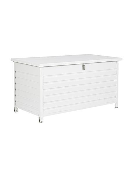 Skrzynia do przechowywania Atlantic, Stelaż: aluminium malowane proszk, Biały, S 141 x W 74 cm