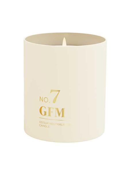 Vela perfumada No. 7 (cítricos, ámber, almizcle), Recipiente: vidrio, Cítricos, ámbar, almizcle, Ø 8 x Al 10 cm