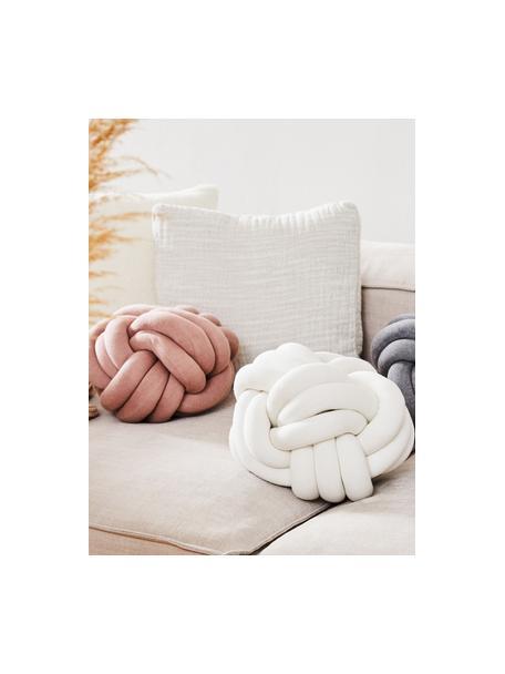 Poduszka supeł Twist, Blady różowy, Ø 30 cm