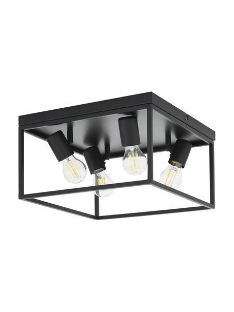 Lampa sufitowa w stylu industrialnym Silentina, Czarny, S 36 x W 21 cm