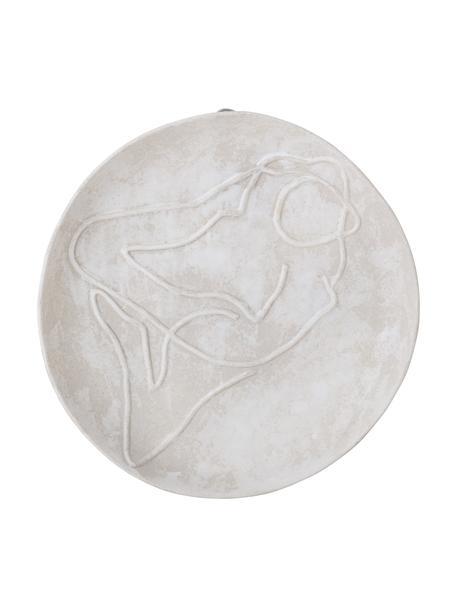 Wandobjekt Bibs aus Steingut, Steingut, Braun, Ø 20 x T 5 cm