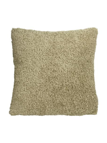 Flauschiges Kissen Teddy in Beige mit Inlett, Bezug: Polyester, Beige, 45 x 45 cm