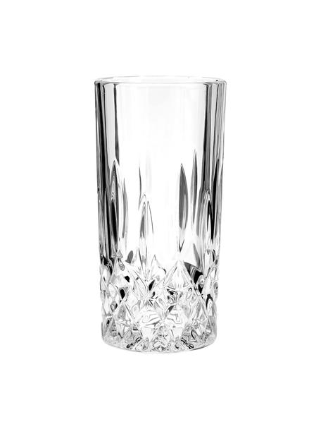 Vasos highball de cristal George, 4uds., Vidrio, Transparente, Ø 8 x Al 15 cm
