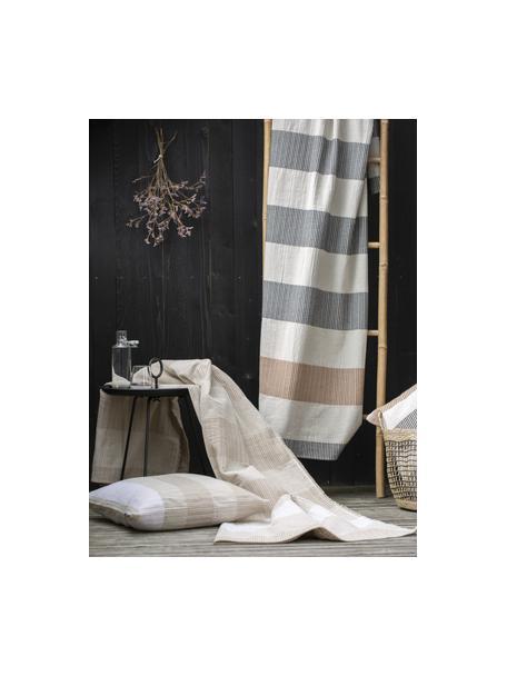 Manta de lino y algodón Lino, 80%algodón, 15%lino, 5%viscosa, Beige, An 135 x L 200 cm
