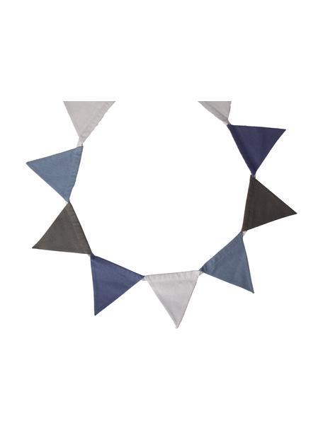 Guirnalda Vimply, Algodón, Azul, gris, gris antracita, L 250 cm