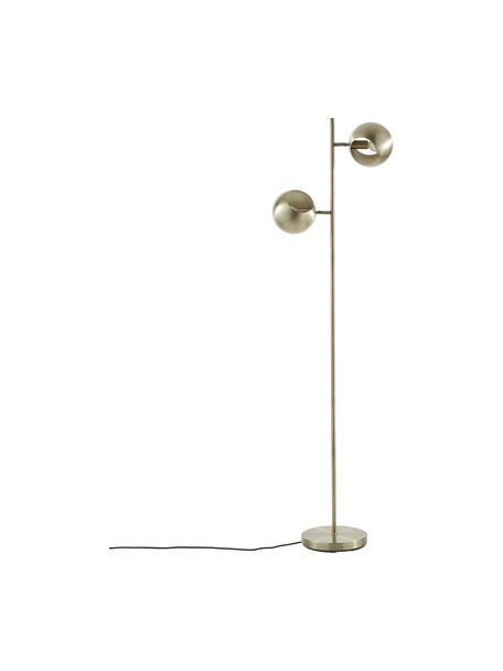 Leeslamp Edgar in messing met antieke afwerking, Lampenkap: gelakt metaal, Lampvoet: gelakt metaal, Messingkleurig met antieke afwerking, 40 x 145 cm