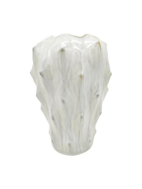 Design vaas Flora van keramiek, Keramiek, Wit, grijs, Ø 20 x H 27 cm