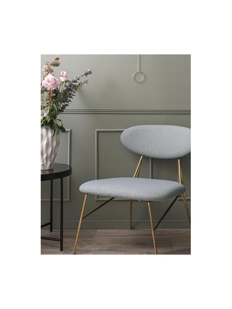 Jarrón de cerámica de diseño Flora, Cerámica, Blanco, gris, Ø 20 x Al 27 cm