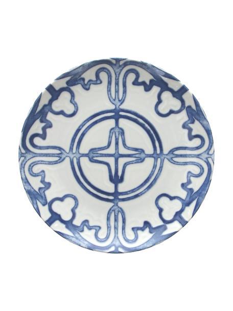 Frühstücksteller Maiolica aus Porzellan in Weiß/Blau, 2 Stück, Porzellan, Blau, Weiß, Ø 20 cm
