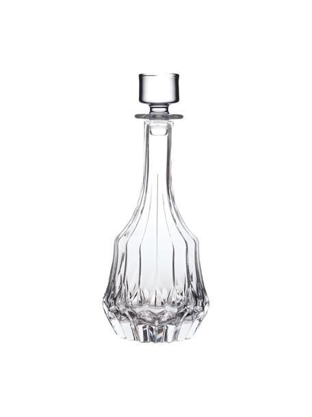 Kristalglazen karaf Adagio met reliëf, 1 L, Kristalglas, Transparant, Ø 12 x H 27 cm