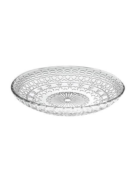 Platos de postre de cristal Frutto, 4uds., Cristal Luxion, Transparente, Ø 18 cm