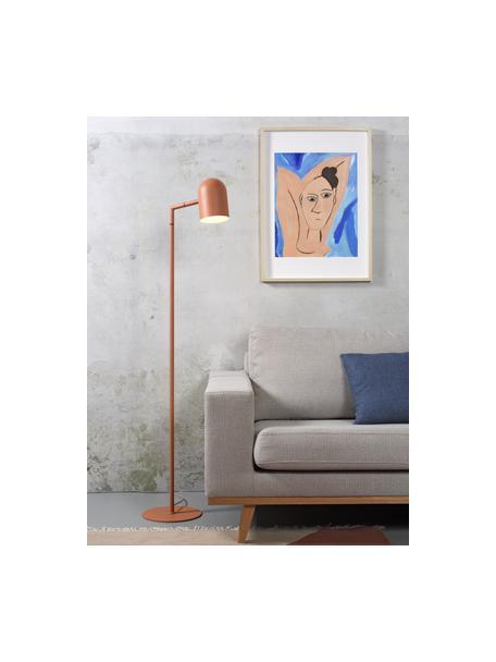 Lámpara de pie Marseille, Pantalla: metal recubierto, Cable: cubierto en tela, Terracota, An 40 x Al 141 cm