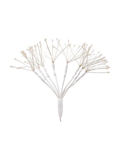 Batteriebetriebenes LED Leuchtobjekt Dendelion H 30 cm, Metall, Kunststoff, Weiss, Silberfarben, Ø 20 x H 30 cm