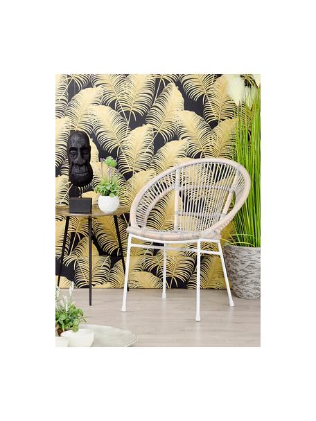 Sedia in rattan Carla, Piedini: metallo verniciato, Beige, Larg. 63 x Prof. 66 cm