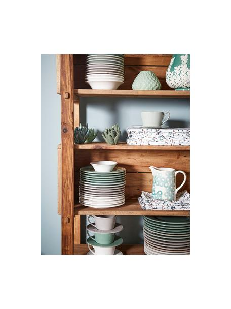 Teetasse mit Untertasse Constance im Landhaus Style, Steingut, Weiss, Ø 19 x H 8 cm