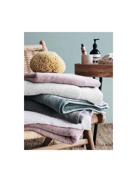 Set 3 asciugamani con bordo decorativo Premium, Grigio chiaro, Set in varie misure