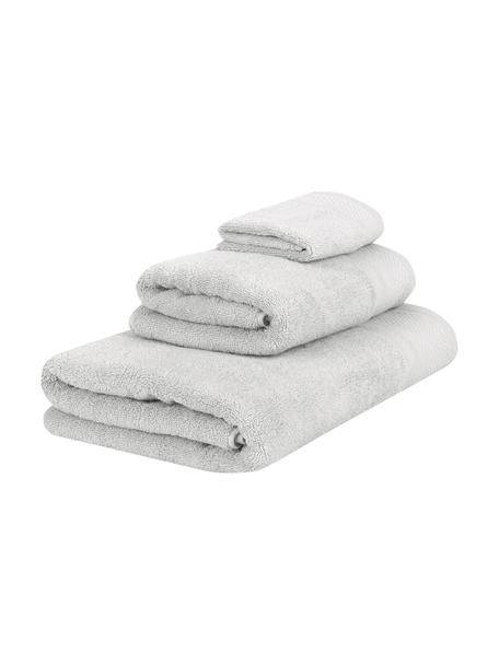 Set de toallas Premium, 3pzas., Gris claro, Set de diferentes tamaños