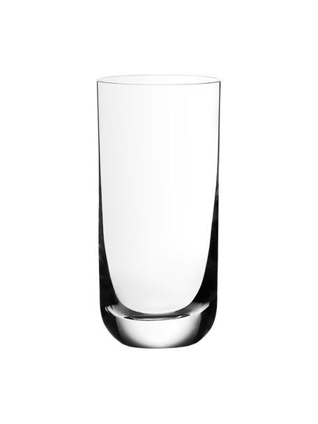 Kristall-Longdrinkgläser Harmony aus glattem Kristallglas, 6 Stück, Kristallglas, Transparent, Ø 7 x H 15 cm