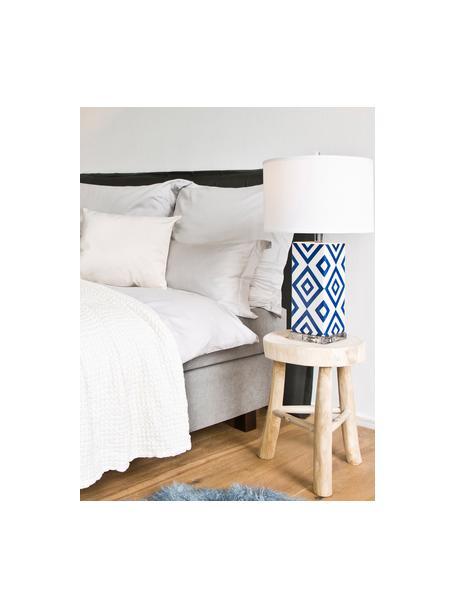 Lampa stołowa Patricia, 2 szt., Niebieski, biały, Ø 38 x W 69 cm