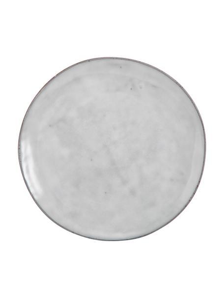 Piatto piano in gres fatto a mano Nordic Sand 4 pz, Gres, Sabbia, Ø 26 x Alt. 3 cm