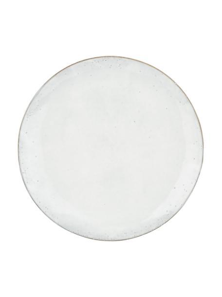 Platos llanos artesanales Nordic Sand, 4uds., Gres, Arena, Ø 26 x Al 3 cm
