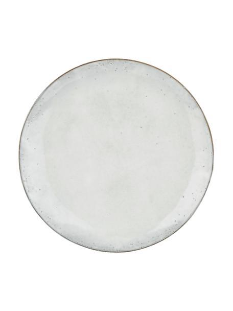 Piatto piano in gres fatto a mano Nordic Sand 4 pz, Gres, Sabbia, Ø 26 cm