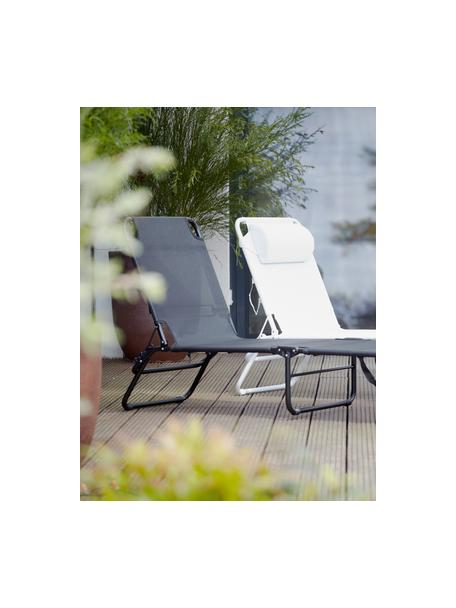Gartenliege Fiam Amigo ohne Armlehne, Gestell: Aluminium, Bezug: Polyester, Weiß, 58 x 190 cm